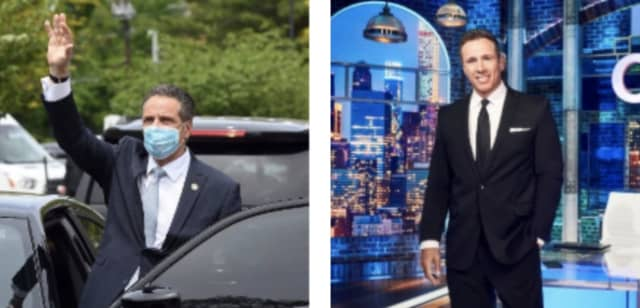 New York Gov. Andrew Cuomo (left) and CNN's Chris Cuomo