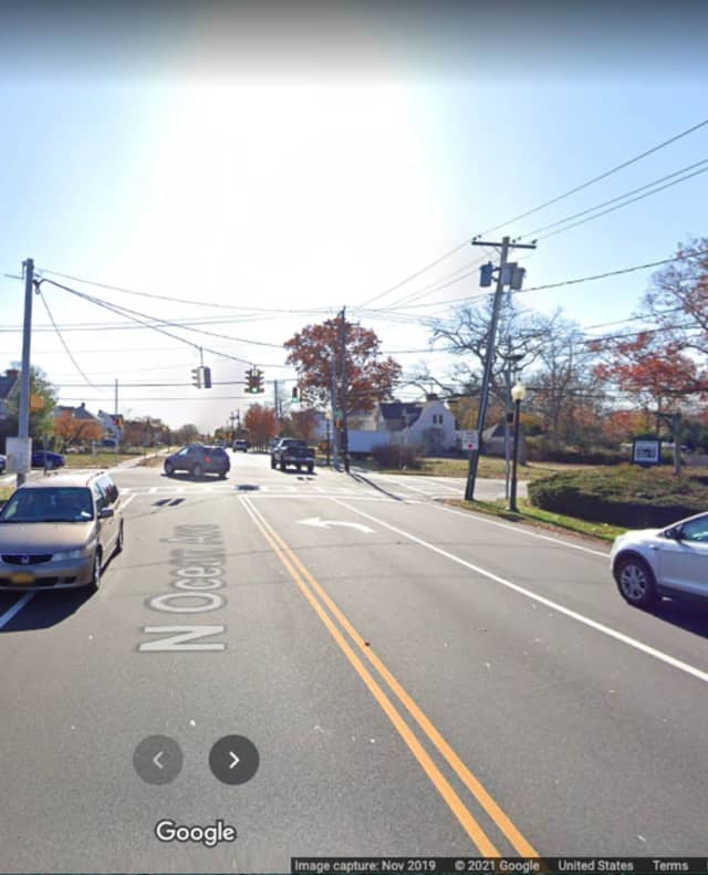 North Ocean Avenue, near Roe Boulevard, in Patchogue.