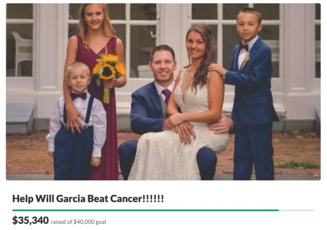 Support is surging for a New Jersey fireman, ICU nurse and father of three after a late-stage cancer diagnosis.