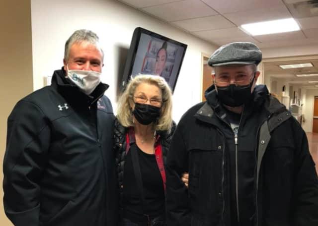 Bayonne Mayor Jimmy Davis with Susan and Ben Klausner.