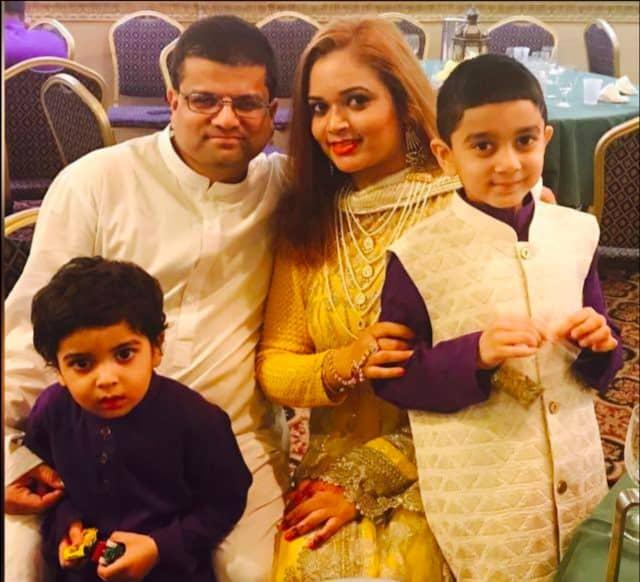 Warda Syed and family