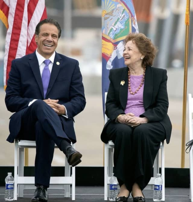 New York Gov. Andrew Cuomo and his mother Matilda Cuomo.