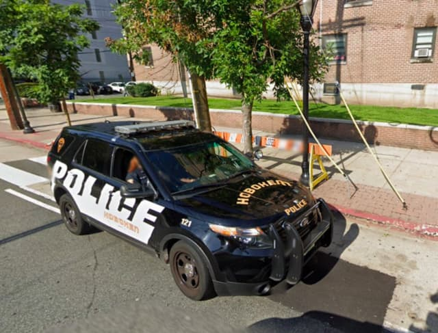 Hoboken police car at 3rd and Jackson streets