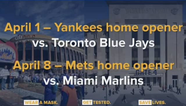 The Yankees and Mets will have limited number of fans in the stands for their home openers.