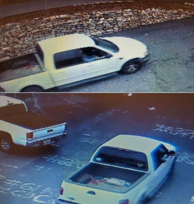 Authorities are seeking information about a pickup truck last seen at Pen Argyl High School around 4:30 p.m. on March 17, Slate Belt Regional Police said.