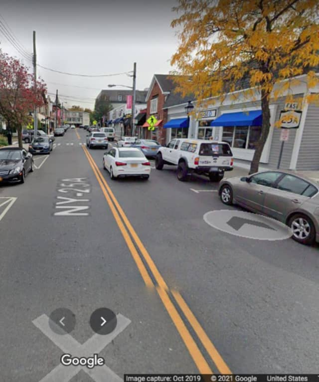The area of Main Street in Port Jefferson where the shooting happened.