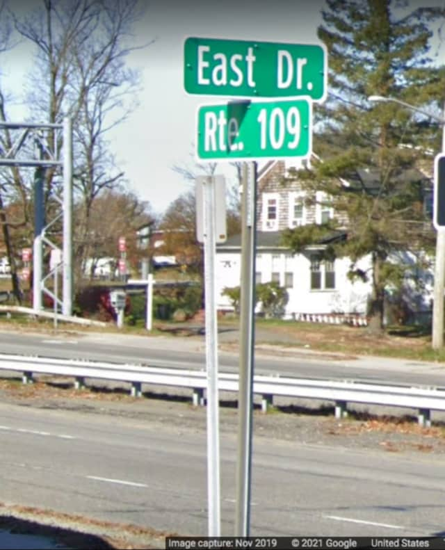 Route 109 at East Drive, West Babylon.
