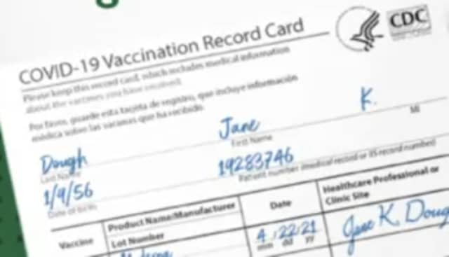 Some scammers have been selling fraudulent COVID-19 vaccination cards.