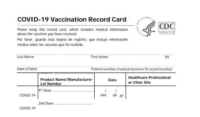Make sure you have a photo of your vaccine card before having it laminated.