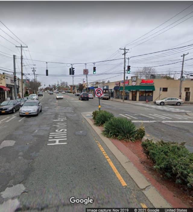 Hillside Avenue near Broad Street in Williston Park.