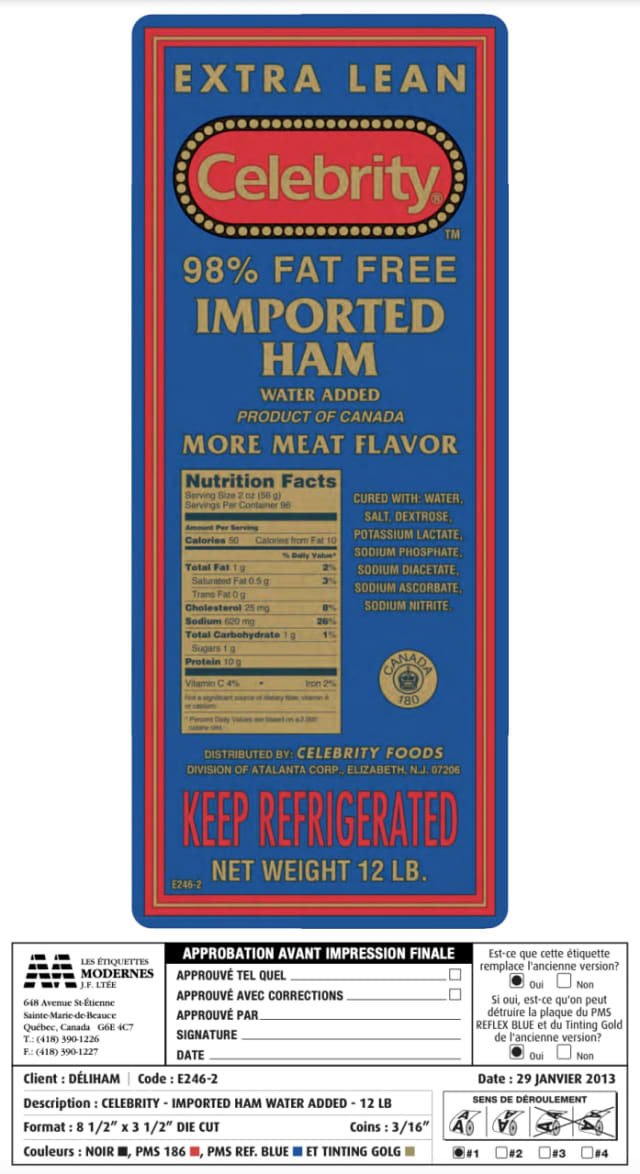 The USDA announced that a ready-to-eat ham product has been recalled.