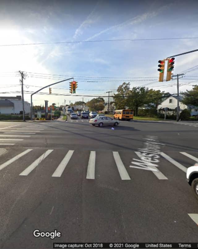 Glen Cove Road at Westbury Avenue in Carle Place.