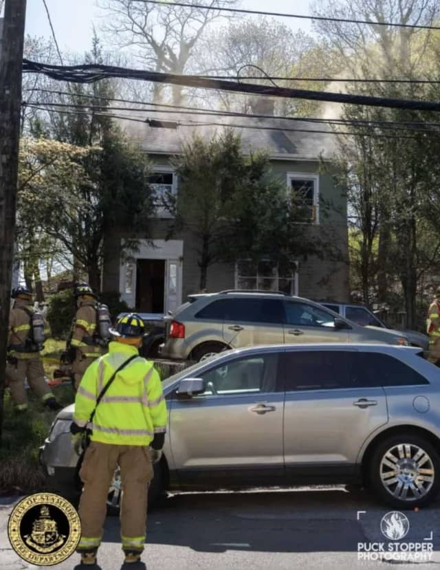 A fire broke out at 33 Hillandale Ave. in Stamford