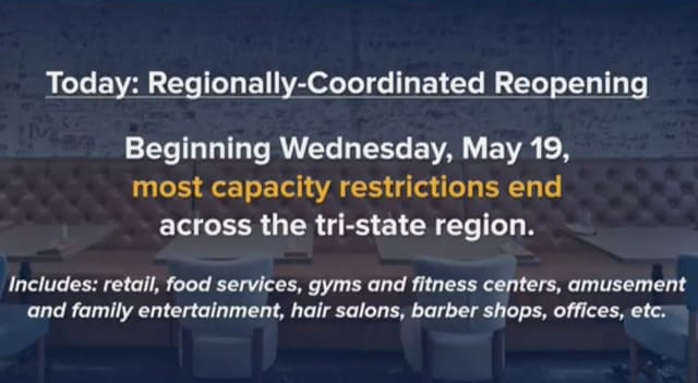 Many COVID-19 restrictions put in place on New York businesses will be lifted on Wednesday, May 19.