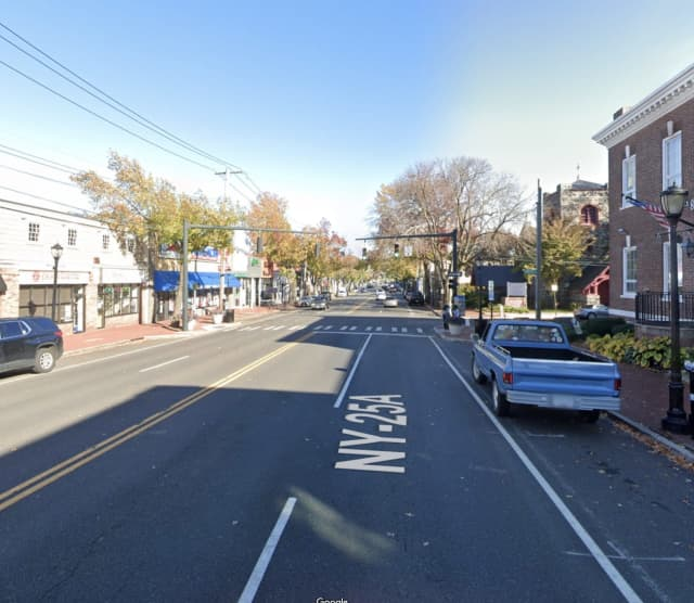 A pedestrian suffered major injuries after being struck by a car on Main Street in Huntington
