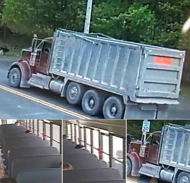 """Police in Northampton County are attempting to identify the driver who they said demonstrated """"vulgar"""" behavior in front of children on a school bus."""