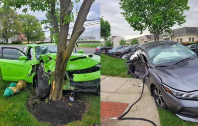 Vehicles involved in Monday's fatal crash in Gloucester County.