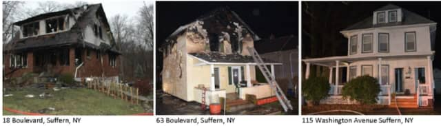 The three homes burned.