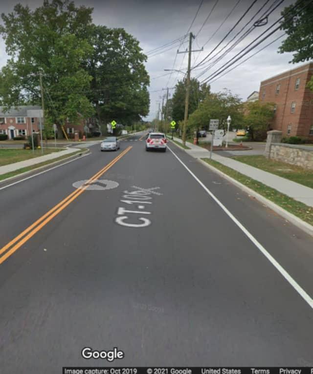 The area of Courtland Avenue where the crash happened.