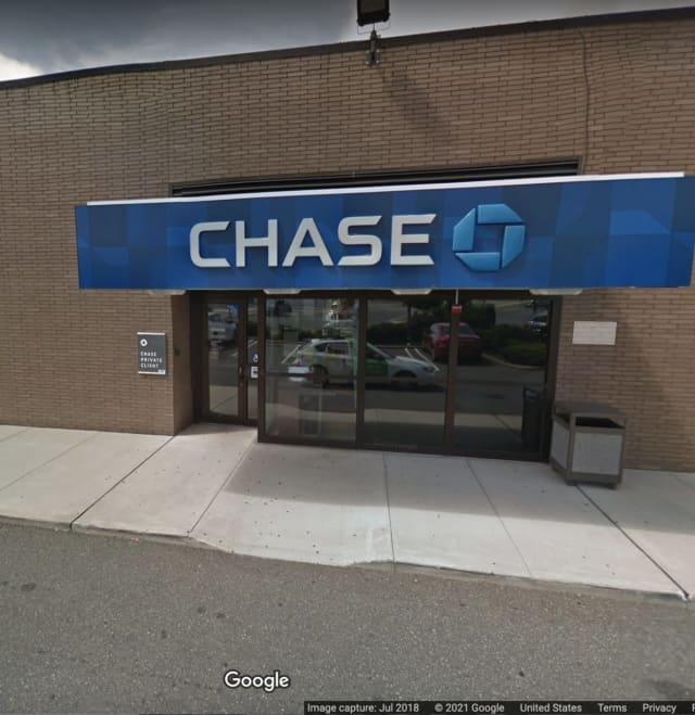 Chase Bank, located in East Meadow, at 2469 Hempstead Turnpike.