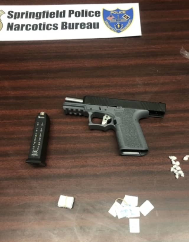 An alleged drug dealer in Western Massachusetts was busted with a ghost gun.