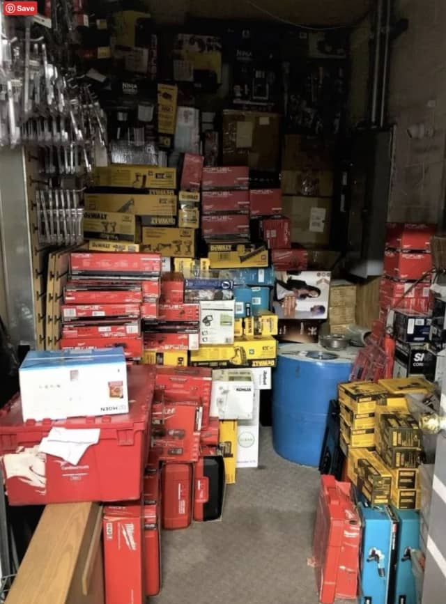 Some of the stolen goods seized by police.