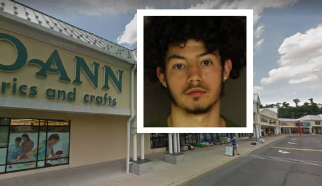 Caden Alberto Rivera was charged with indecent exposure after he was found with his genitals out in the parking lot of a Lemoyne shopping center, police said.