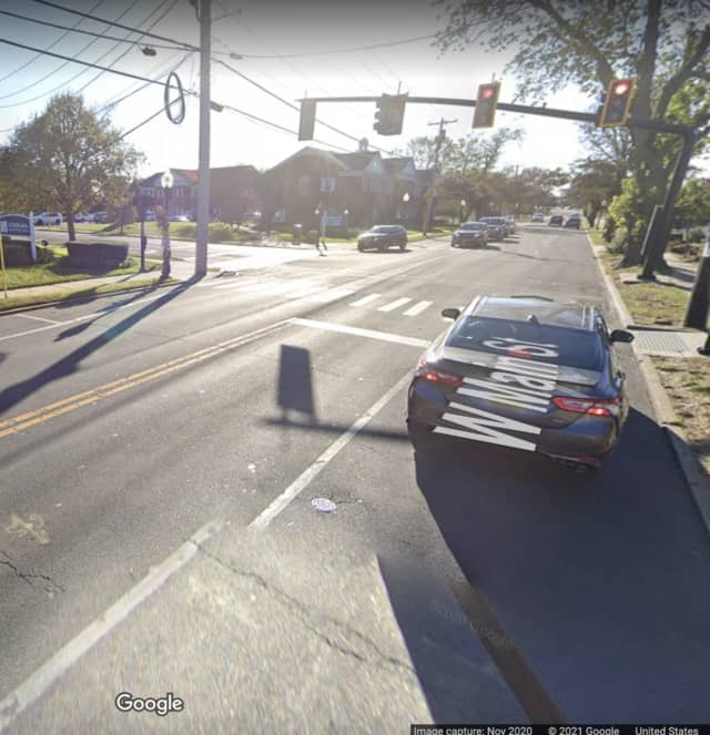 The area of West Main Street near Thompson Avenue in Babylon where the incident happened.