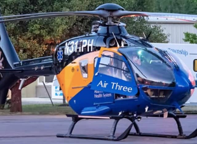 One person was airlifted following a crash that shut down Route 80 in Rockaway Wednesday afternoon, initial reports say.