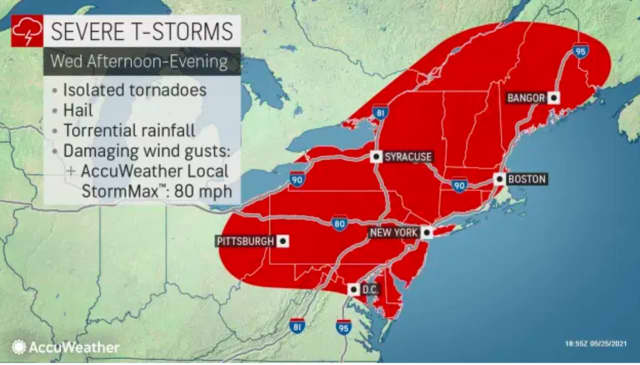Thunderstorms expected Wednesday