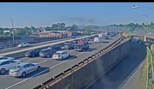 Traffic crawls on the GSP Thursday morning.