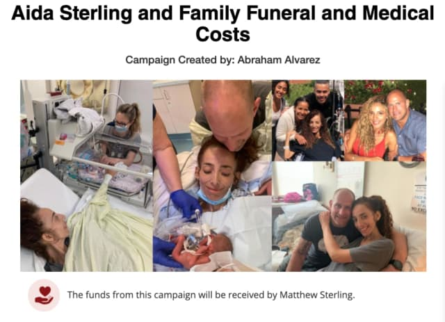 """Ocean County mom of three Aida """"Liz"""" Sterling, 37, lost her battle with cancer less than a week after giving birth to her fourth child via emergency c-section at Jersey Shore University Medical Center."""