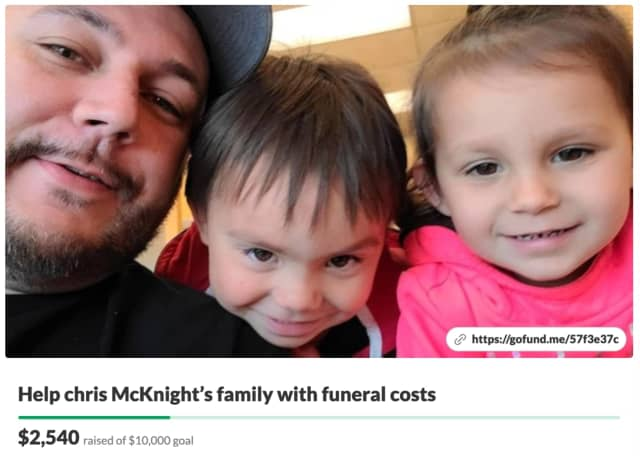 More than $2,500 has been raised for the final expenses of Ocean County native and father of twins Christopher McKnight, who died May 7 at the age of 34.