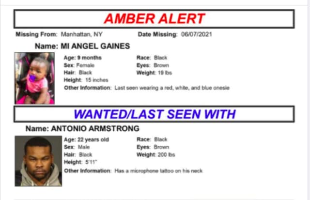 An Amber Alert has been issued after a 9-month-old was abducted by her non-custodial father in New York City, according to police.