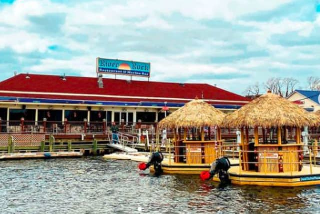 This floating tiki will take you for cruise on the Manasquan River. All aboard at the River Rock Restaurant