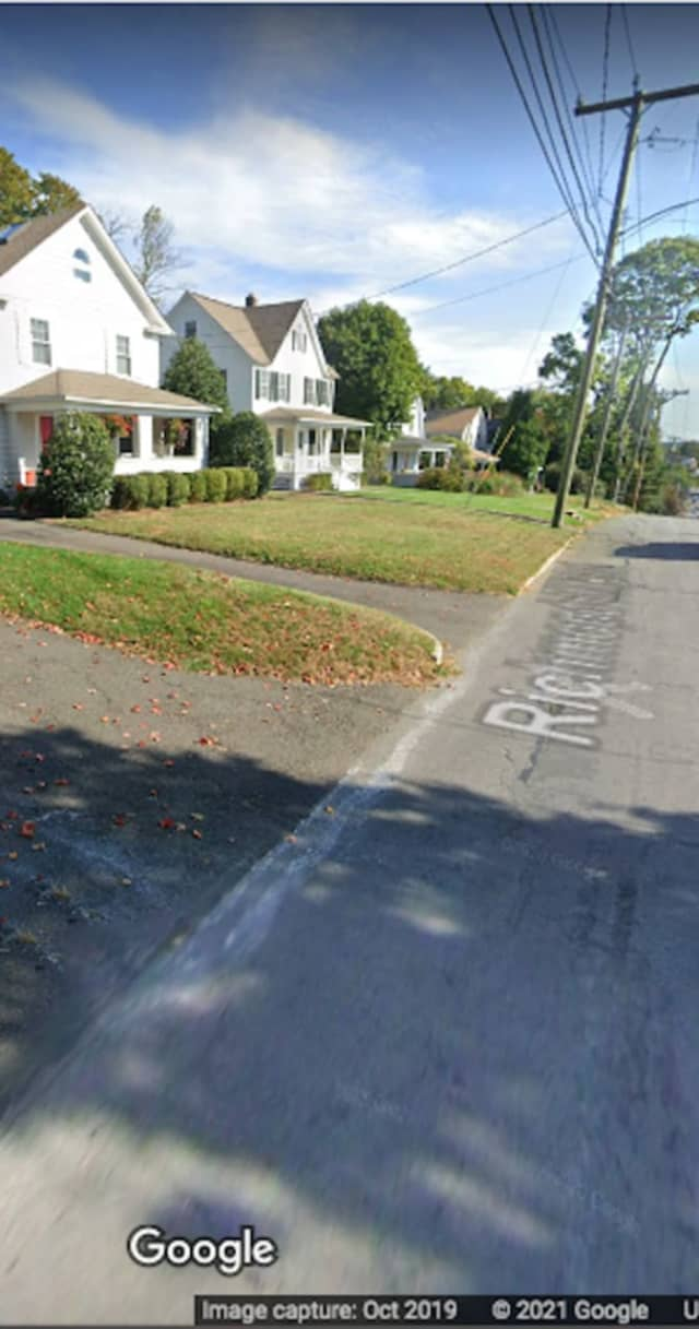 The area of Richmond Hill Road in New Canaan where the incident happened.