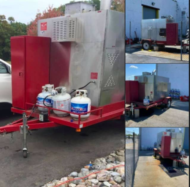 A portable barbecue trailer allegedly was stolen from a food business in South Jersey.