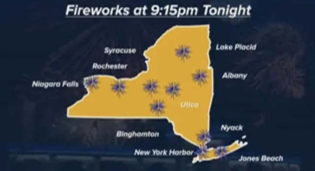 New York Gov. Andrew Cuomo announced a series of fireworks shows across the state to celebrate the recovery from COVID-19