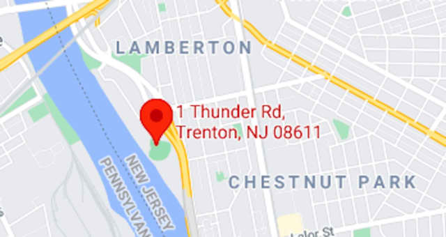 Thunder Road, near the Delaware River and Arm & Hammer Park