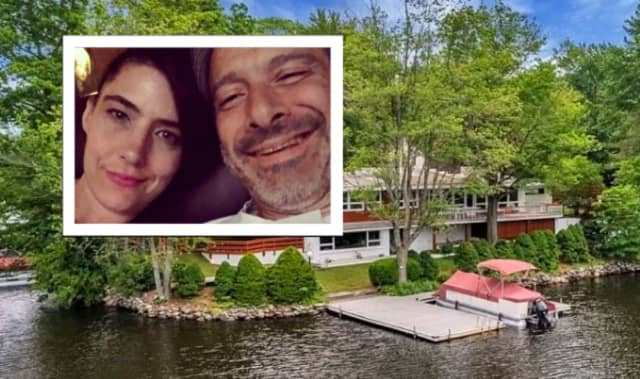 """Kathleen Hanna and Adam """"Ad-Rock"""" Horovitz are selling their lakefront home in Hewitt."""