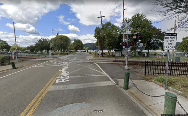 A vehicle with four occupants was hit by an Amtrak train in Peekskill.