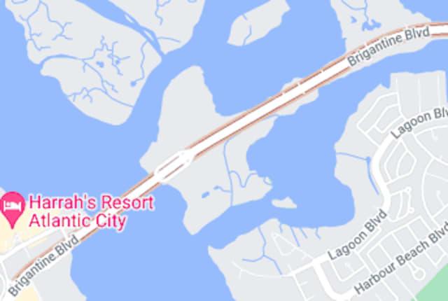 A fatal collision occurred along Brigantine Boulevard near the Brigantine Bridge.