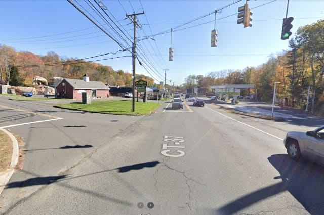 Two were hospitalized after crashing at the intersection of Padanaram Road and Jeanette Street in Danbury.