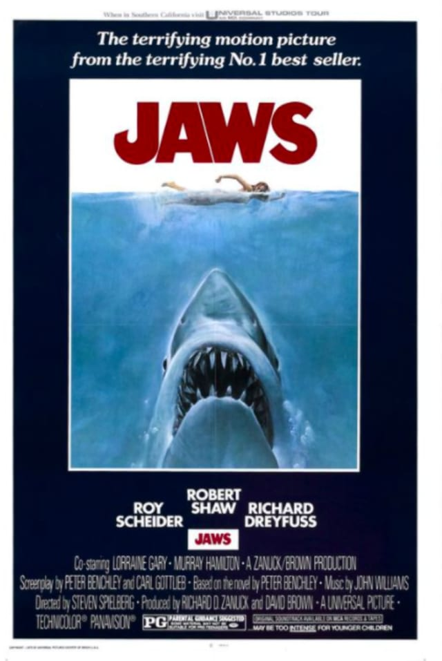 JAWS, the movie, resurfaces at an Atlantic County movie theatre on Independence Day weekend, July 3 and 4.