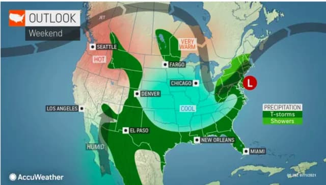 A look at the unsettled weather pattern that will continue into the July 4th weekend.
