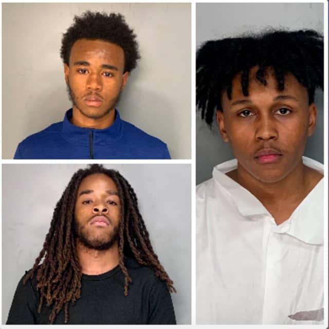 Micah Colbert (top left), Elijah Smith (bottom left) and Dorian Harris.