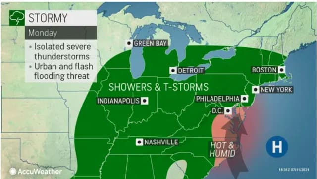 A new round of isolated severe storms are expected on Monday, July 12.