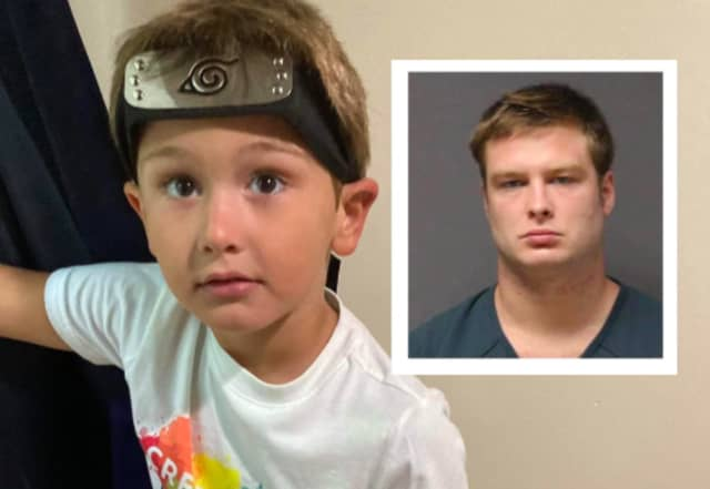 Corey Micciolo, 6, was allegedly killed by his biological father (inset at right) who has been charged with endangering the welfare of a child.