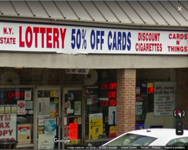 Cards n Things in East Northport, where the winning ticket was purchased.