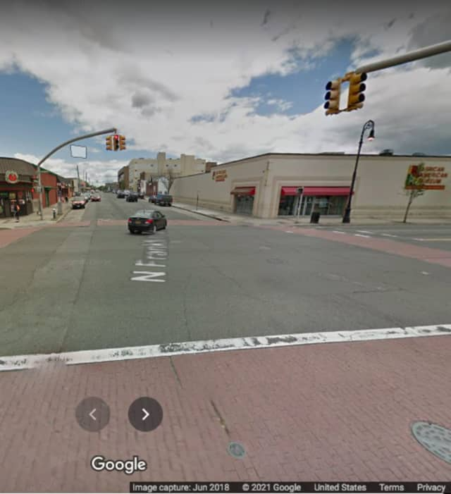 North Franklin Avenue near Jackson Street in Hempstead.